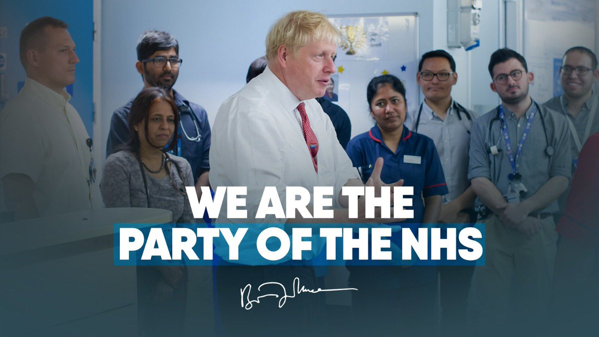 Boris party of the NHS