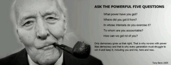 Tony Benn 5 questions
