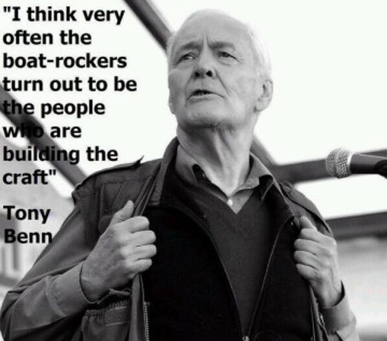Tony Benn rock the boat