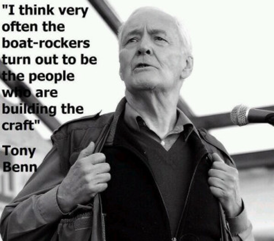 Tony Benn rock the boat