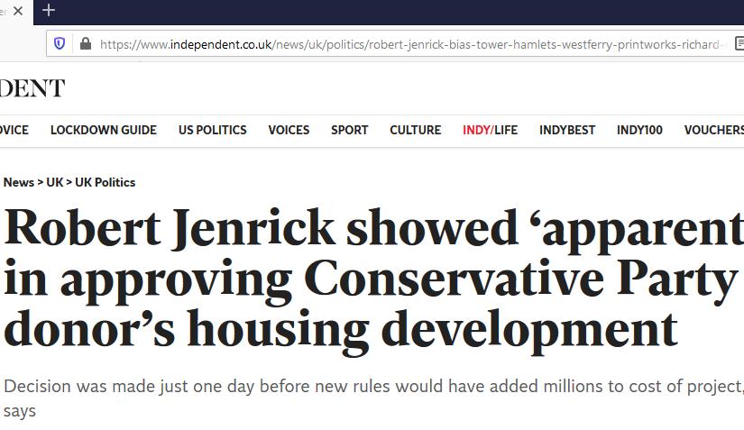 Jenrick's dodgy dealings