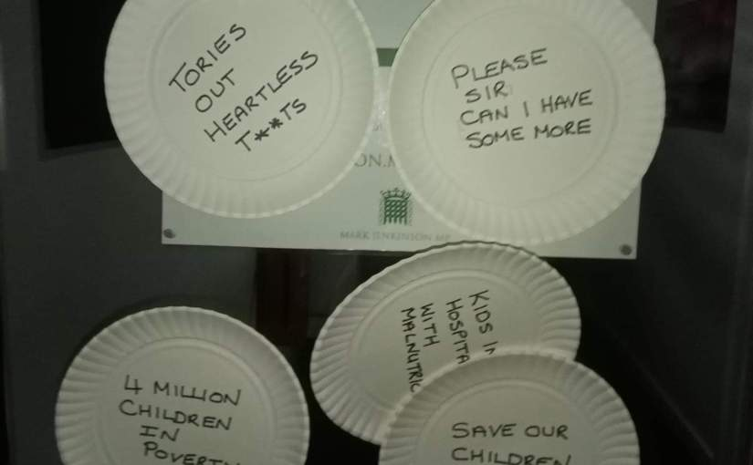 Someone found a use for all those paperplates!