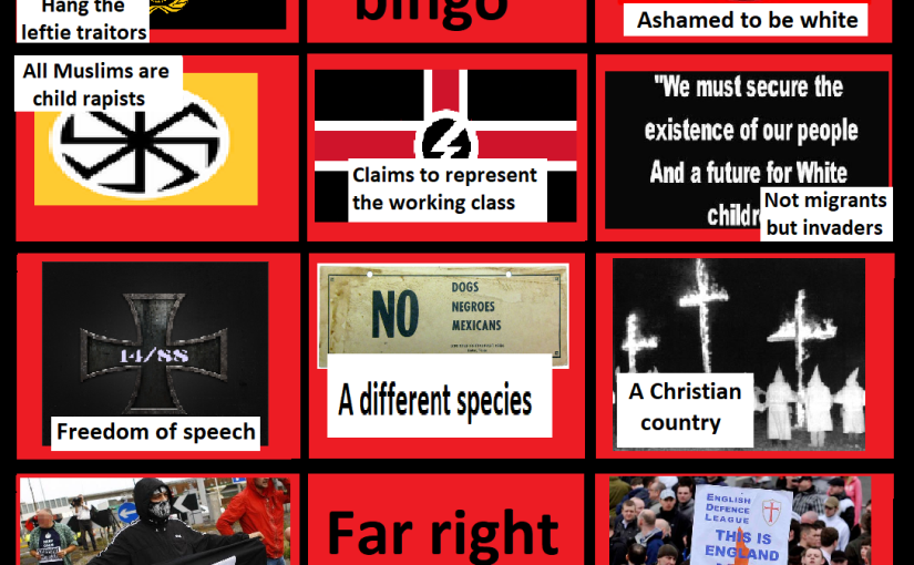A far right bingo card: Freedom ofspeech