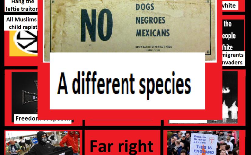 Far right bingo card: A differentspecies