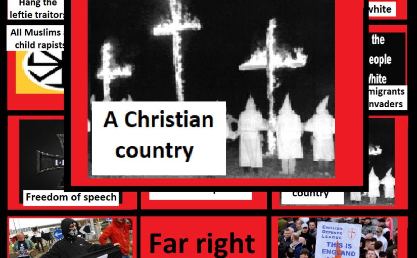 Far right bingo card: Britain's a Christiancountry