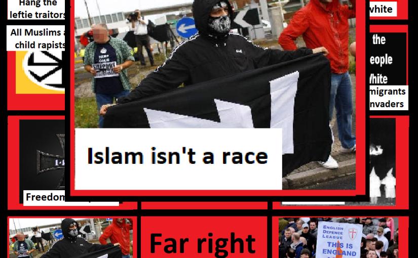 Far right bingo card: Islam isn't arace